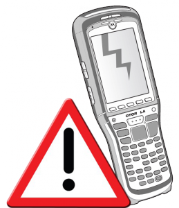 Broken Hand Held Terminal Barcode Scanner