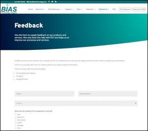 Feedback Form Page